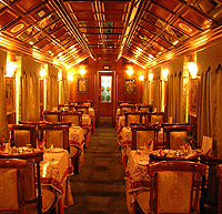 Restaurant in Palace on Wheels Luxury Train